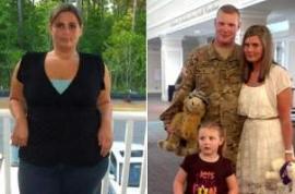 Tras un año sin verse sorprende a su esposo bajando 70 kilos