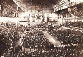 Fotos nunca vistas de un festejo nazi en el Luna Park