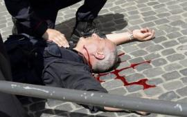 Atacan el Parlamento italiano , hay 4heridos de bala