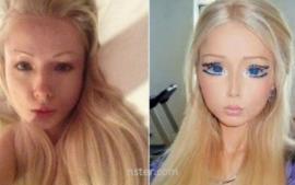 "La ""Barbie humana"" sin maquillaje"