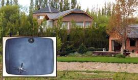 La foto de la bóveda de los Kirchner en su casa de El Calafate