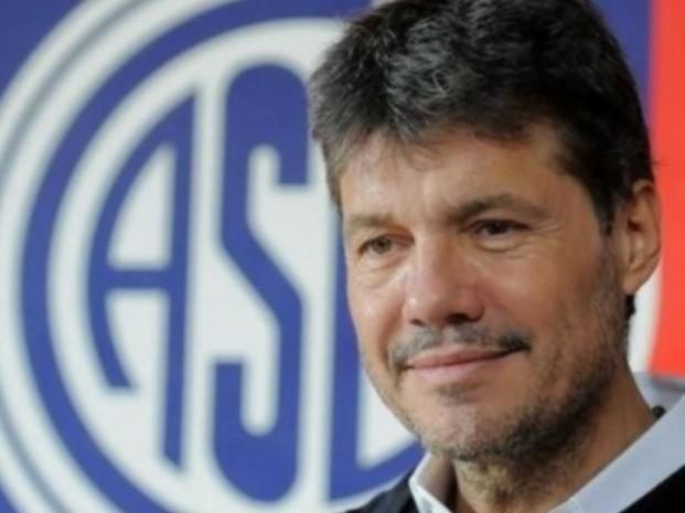 El enojo de Tinelli por el cambio de horario del partido de San Lorenzo