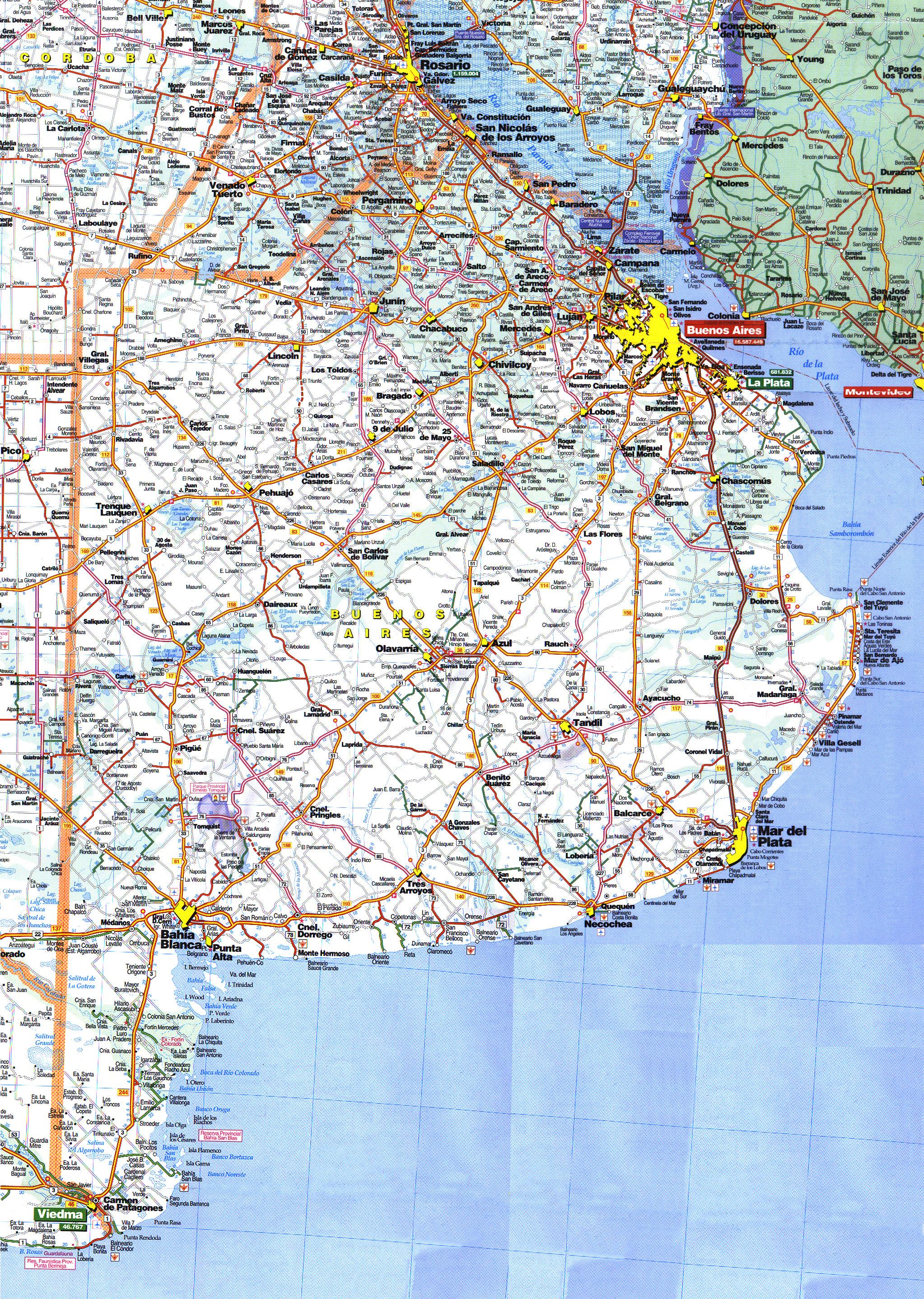 MAPA DE RUTAS DE LA PROVINCIA DE BUENOS AIRES