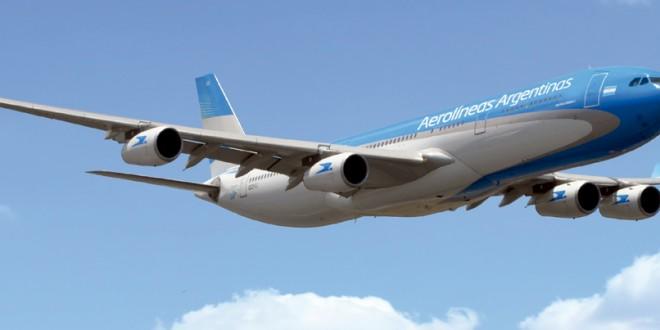 Aerolíneas Argentinas despidió a su pasajera nueve millones en lo que va del año
