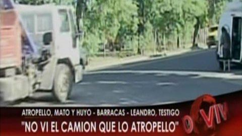 Camionero atropelló y mató motociclista