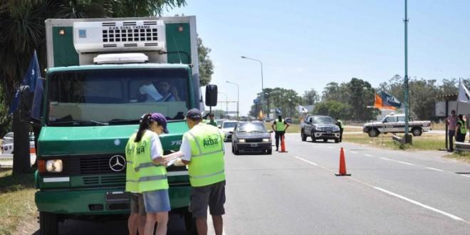 Control de cargas de ARBA en rutas de toda la Provincia