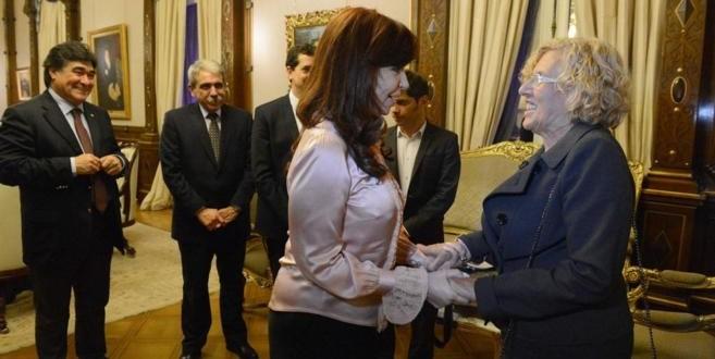 Cristina Fernández de Kirchner recibió a la Alcaldesa de Madrid