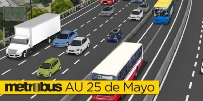 Restringirán la calzada de la autopista 25 de Mayo mano a provincia por obras del Metrobus