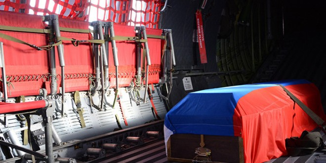 Fue enterrado con honores el piloto ruso del avión derribado por Turquía
