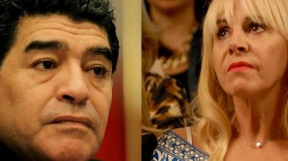Decretan la inhibición general de los bienes de Claudia Villafañe , la ex esposa de Maradona