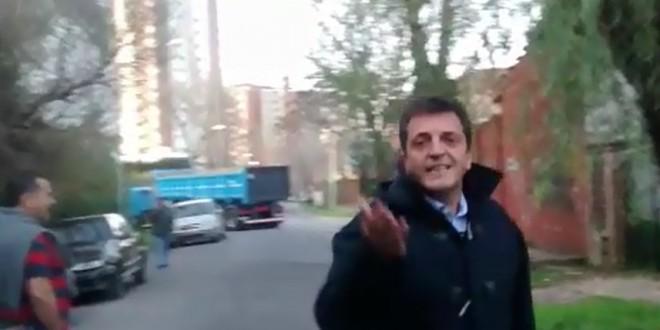 Massa insultó a vecinos de Tigre que le reclamaban obras