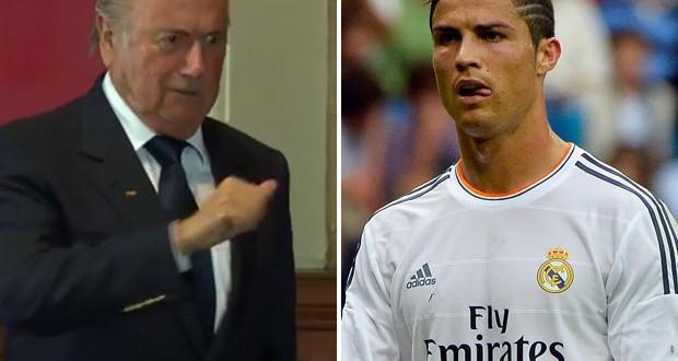 "Sepp Blatter le ""icardeó"" la mujer a Cristiano Ronaldo ?"
