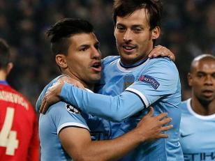 Agüero marcó dos tantos en la goleada de Manchester City