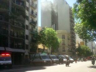 Incendio en un departamento de Palermo