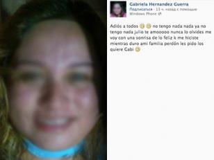 Publica su foto en Facebook justo antes de ahorcarse