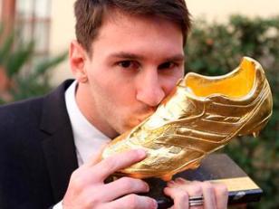 Lionel Messi recibirá la Bota de Oro de la temporada 2012-2013