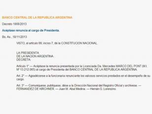 Cristina oficializó los nombramientos de Juan Carlos Fábrega en el Banco Central y de Juan Ignacio Forlón en el Banco Nación