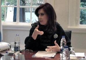 Cristina desarrolla su agenda en Olivos