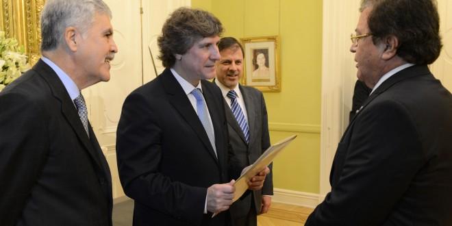 Boudou recibió cartas credenciales de nuevos embajadores