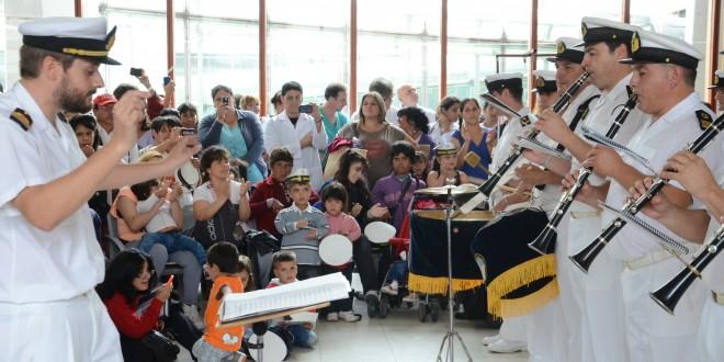 Con un concierto en el Hospital Garrahan abrió el ciclo de orquestas de Bandas Militares
