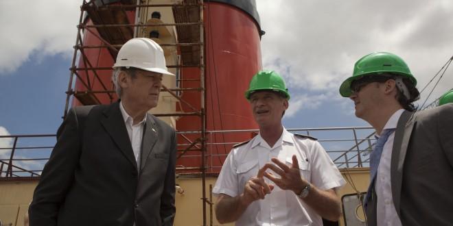 """La reconstrucción del Rompehielos """"Almirante Irízar"""" en los astilleros Tandanor"""