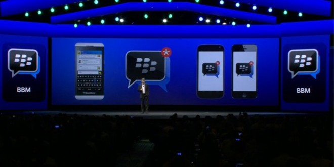 BlackBerry Messenger para iPad