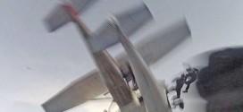 Video: graba los segundos precisos en que la avioneta que lo transportaba choca en pleno vuelo con otra aeronave.