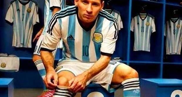 La camiseta de la selección argentina para el Mundial de Brasil 2014