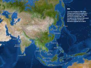 Así quedaría el mundo si se derriten el Polo Sur y Norte