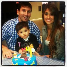 El primer cumple de Thiago Messi