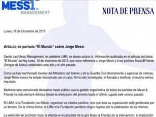 La familia de Lionel Messi se desvincula de las acusaciones de lavado de dinero