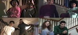Video: grabó durante 25 años a sus hijos en Navidad