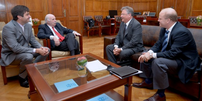 Casamiquela recibió al ministro de Producción de Santa Fe