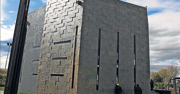 Se hundió parte del piso del Mausoleo de Kirchner