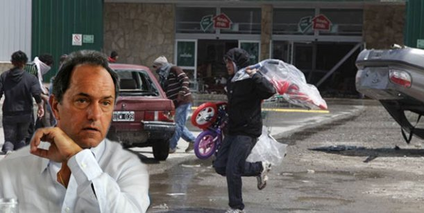 Scioli puso a la Provincia de Buenos Aires en alerta por los saqueos