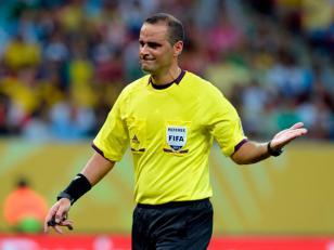 El árbitro argentino en el Mundial de Brasil