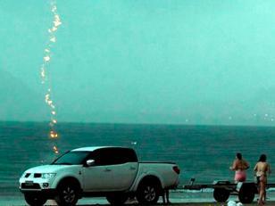 Foto: El momento en que un rayo mata a una mujer