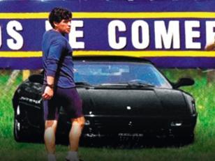 Se vende la Ferrari Testarossa negra de Diego Maradona