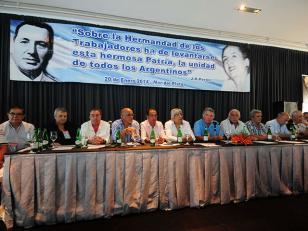 Acto sindical de Moyano y Luis Barrionuevo