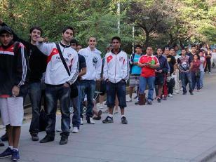 Venta de entradas para el superclásico en Mendoza