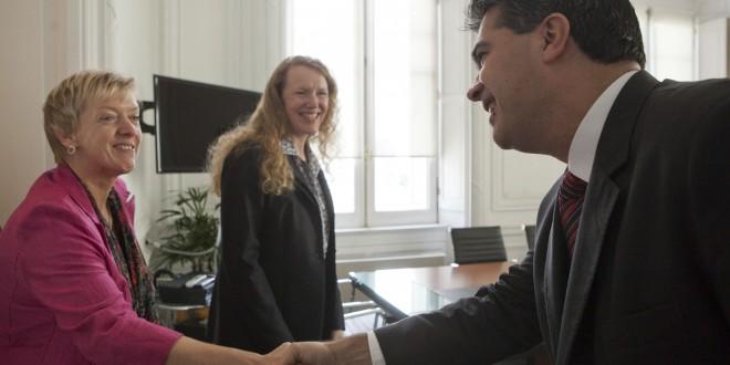 Nuevas autoridades del Banco Mundial en Casa de Gobierno