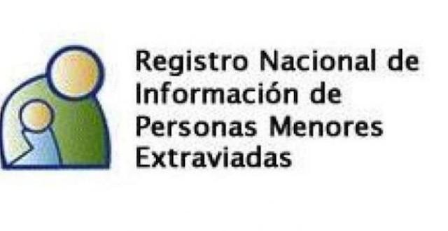 Registro Nacional de Información de Personas Menores Extraviadas 1