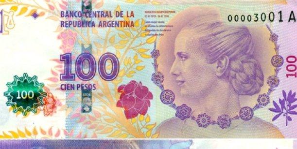 Alerta en la costa por billetes falsos de 100 pesos de Evita 2