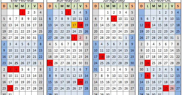Fines de semana largos y feriados del 2014 3