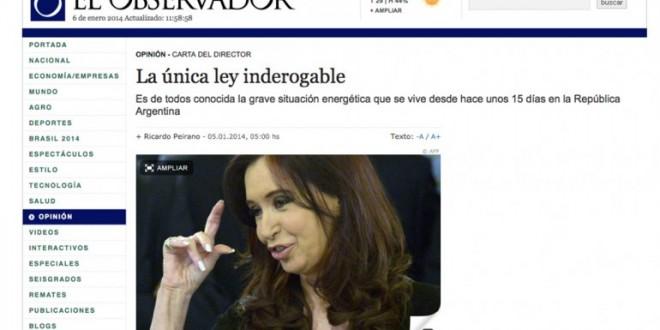 Argentina vive una grave situación energética según un diario Uruguayo