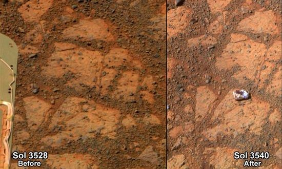 La NASA encuentra una extraña roca en Marte