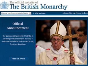 A 32 años de la guerra de Malvinas, la reina de Inglaterra se reunirá con el Papa