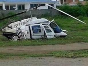 Cayó el helicóptero presidencial ecuatoriano