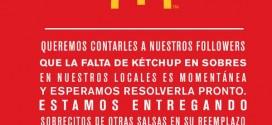 McDonald's Argentina se queda sin ketchup