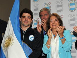 ODESUR: Federico Molinari recibió la bandera argentina